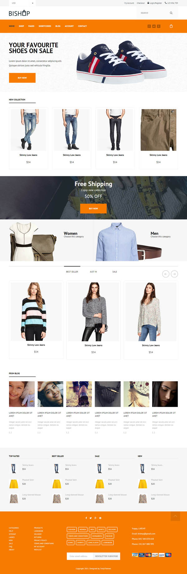 Bishop - Elegant & Clean Shop Theme