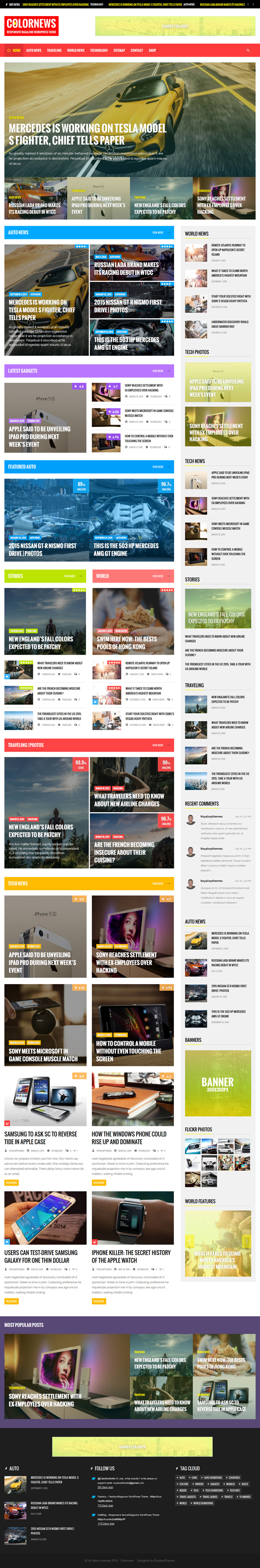 ColorNews - News/Magazine WordPress Theme