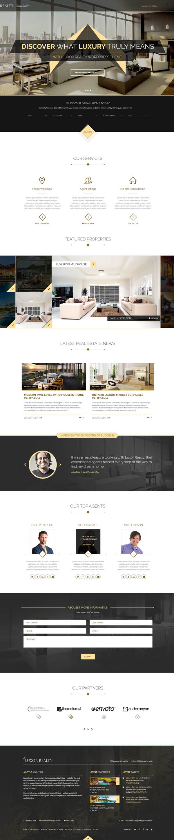 LUXOR - Responsive HTML5 Real Estate Template