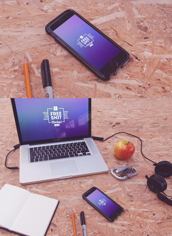 Free Hi-Res iPhone & MacBook mockups