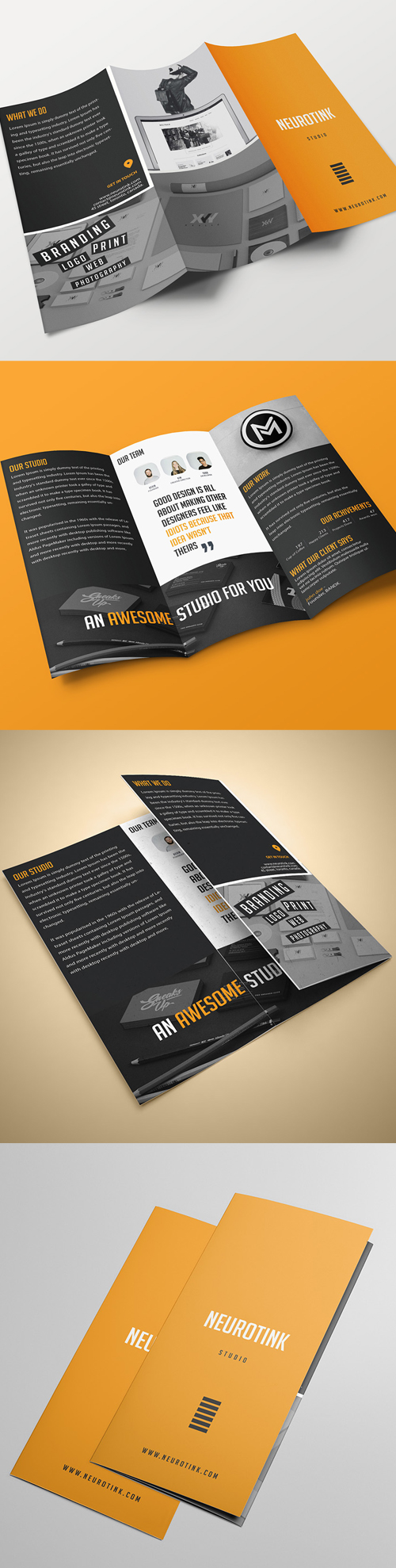 Agency Tri-fold Brochure Template
