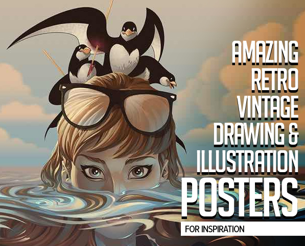 Amazing Retro / Vintage Drawing & Illustration Posters