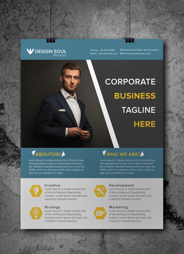 free business flyer templates free corporate business flyer psd template freebies