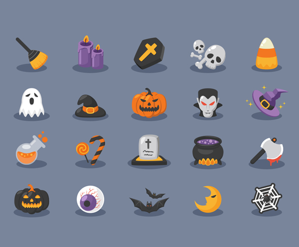 Halloween Icons (AI, EPS) - 20 Icons
