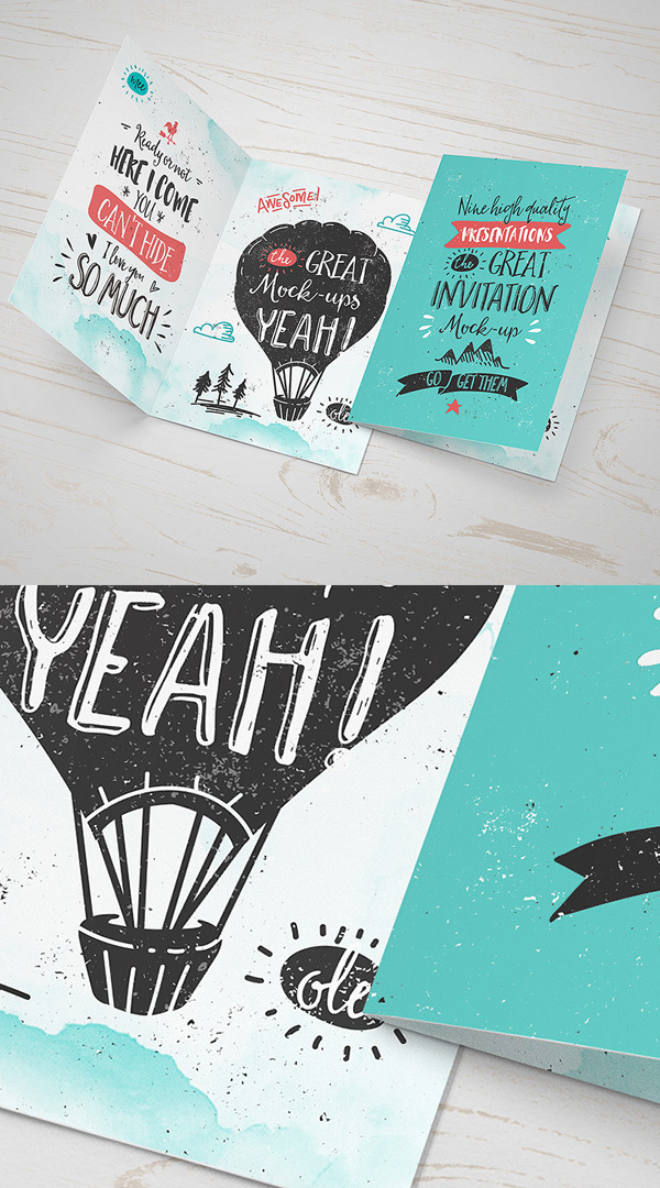 Free Invitation / Greeting Card PSD Template