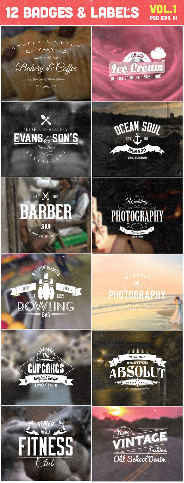 Free PSD Badges and Labels
