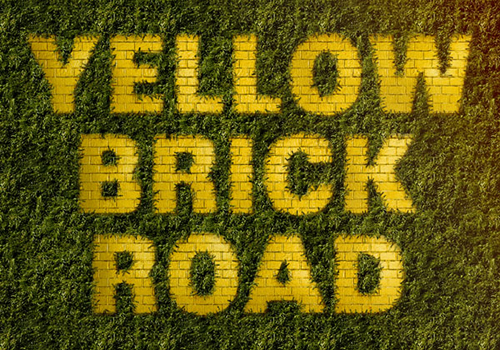 How to Create a Yellow Brick Road Inspired Text Effect in Adobe Photoshop
