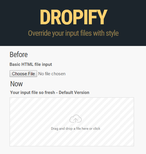 DROPIFY  UI Design Tool - Override your input files with style