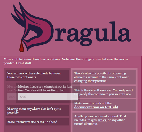 Dragula: Drag and Drop Plugin UI Design Tool