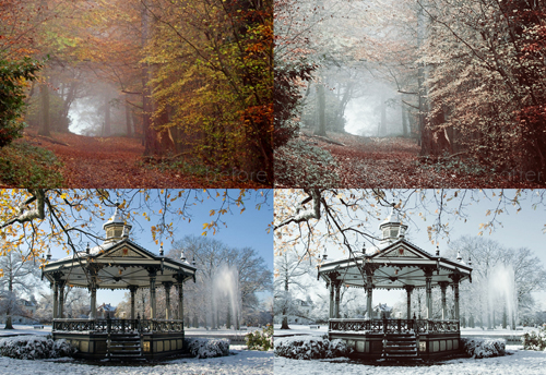 Free Photoshop Winter breeze Actions
