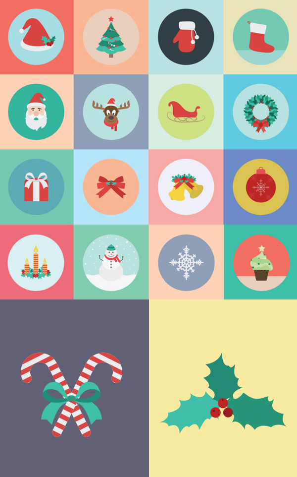 Free Christmas Icons Vector 2015