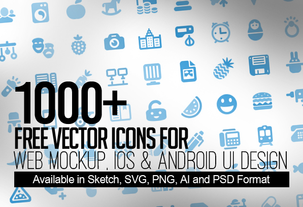 1000+ Free Vector Icons for Web, iOS and Android UI Design