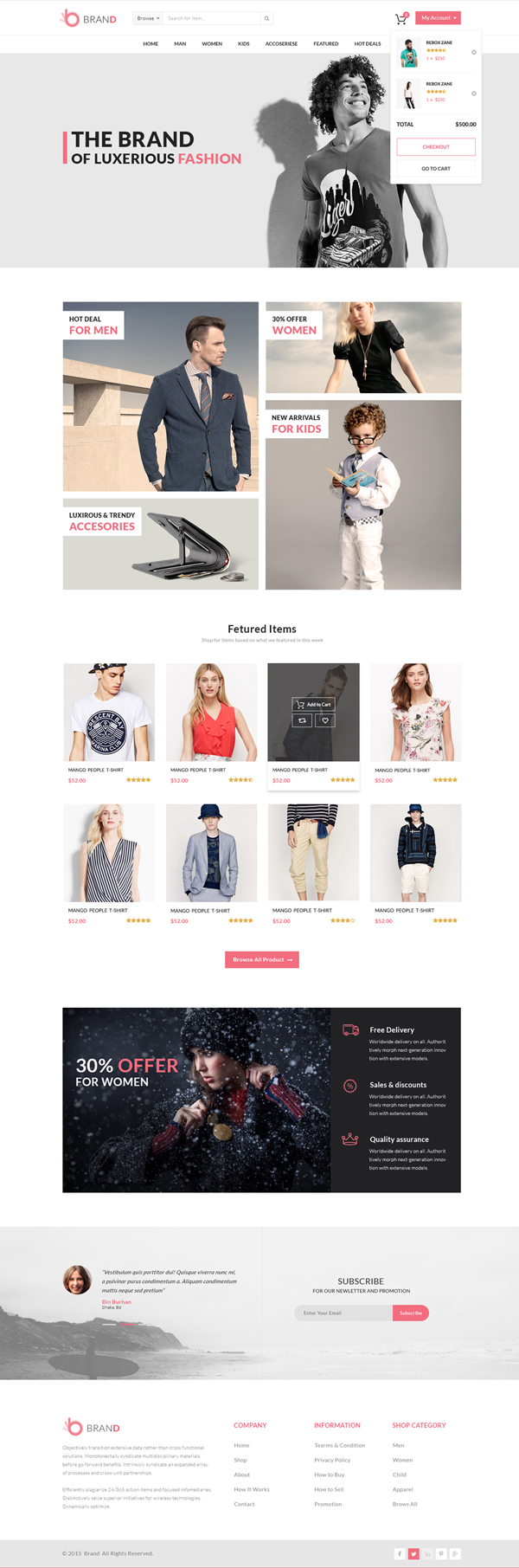 Free eCommerce Template for Fashion Store - Brand