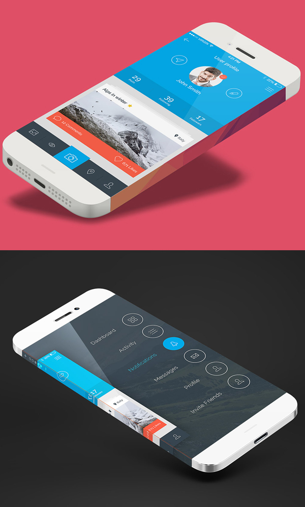 iPhone Top View Mockup Free Download