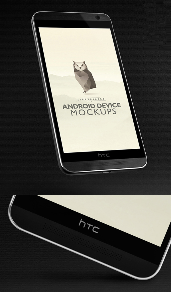 Free Android Mockups - HTC ONE M8
