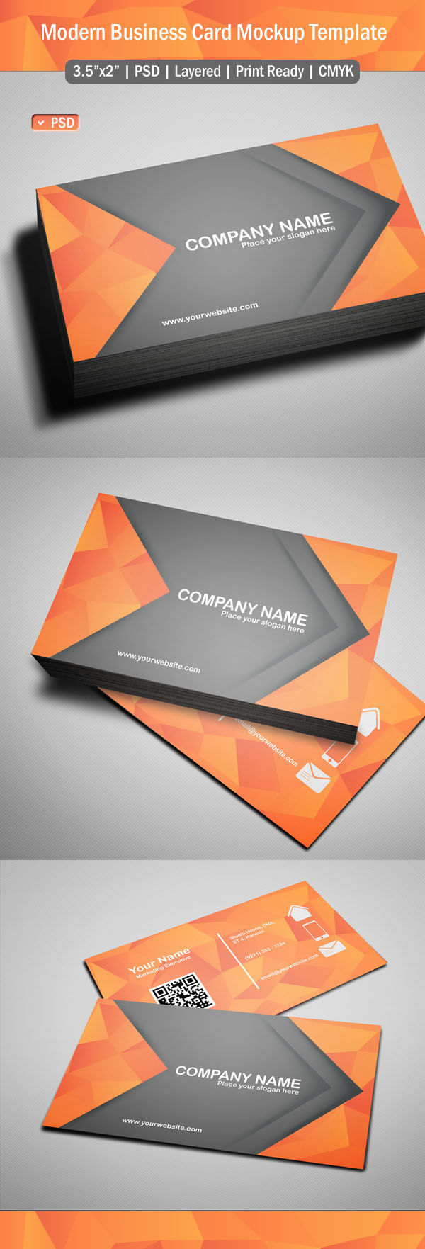 Free Modern Business Card Template (PSD)