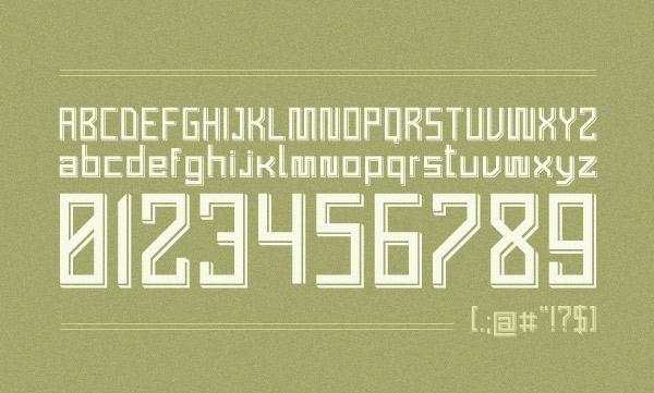 Grand Quatre Font Letters and Numbers
