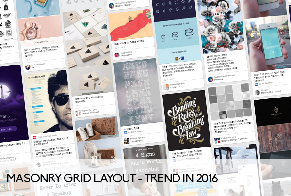 Masonry Grid Layout - trend in 2016