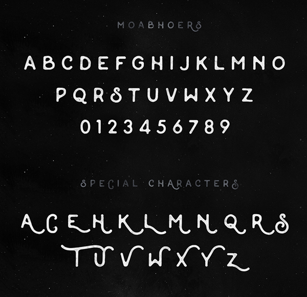 Moabhoers Font Letters and Numbers