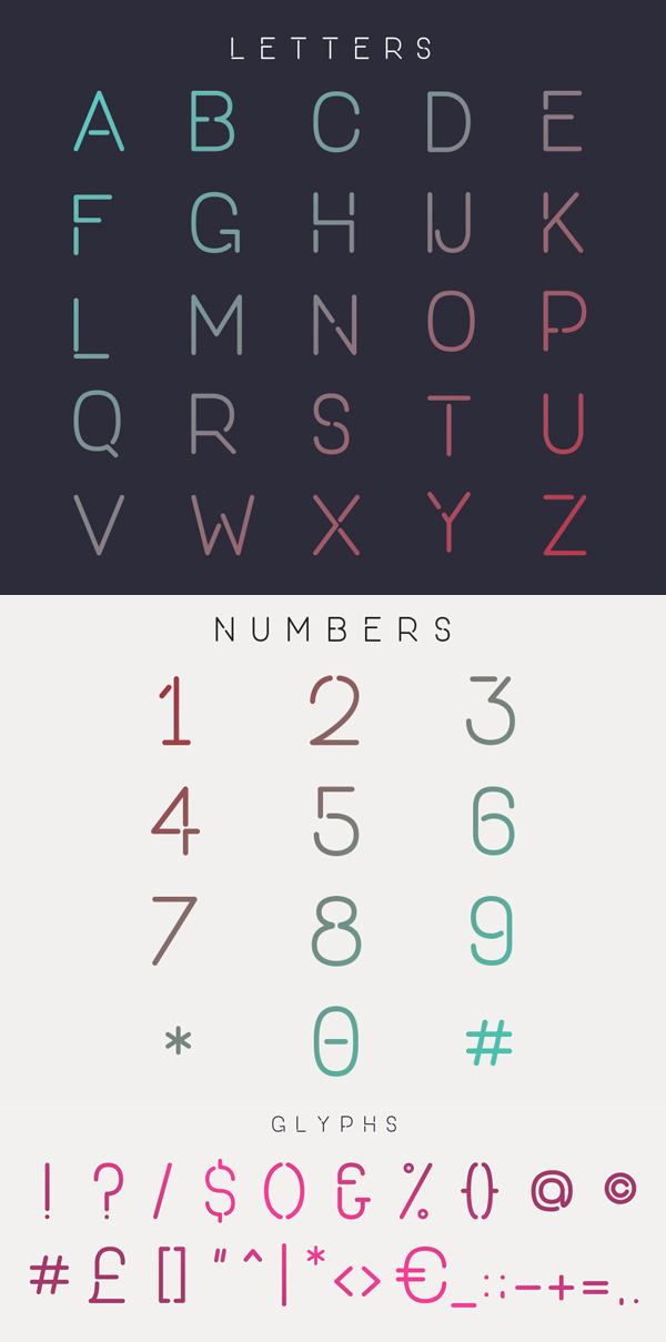 One Day Font Letters and Numbers