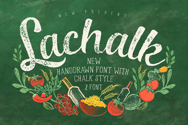 The La Chalk typeface has two incredible fonts included