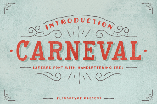 Carneval script is a set of fonts