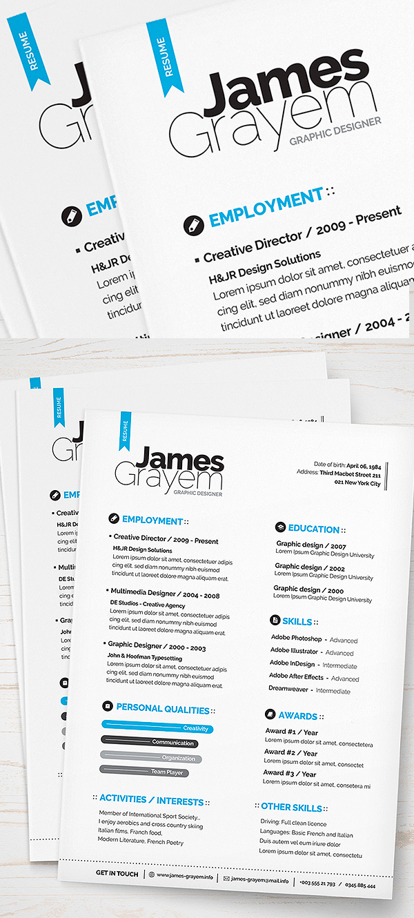 Graphic design resume template psd images graphic designer resume free cv resume psd template 9 maxwellsz