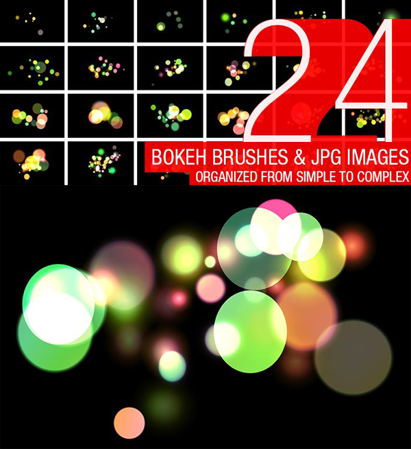 Free Abstract Bokeh Brushes (24 Brushes)