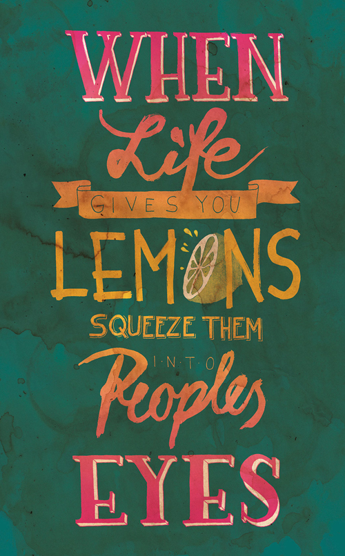 When life gives you Lemon! by Jenny Thich