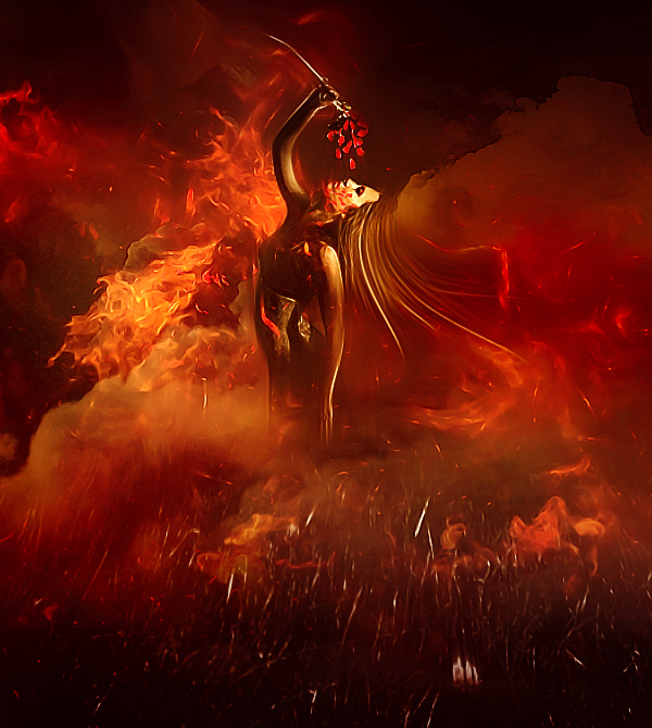 Create Dance On Fire Scene In Photoshop tutorial