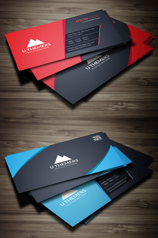 Custom Card Template professional business cards : 26 New Professional Business Card PSD Templates : Design ...