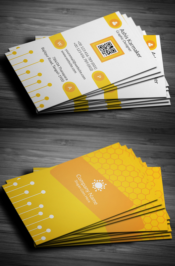 Honeycomb Business Card Design