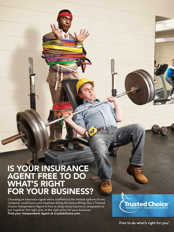 Trusted Choice Independent Insurance Agents: Risky Business - Heavy lifting