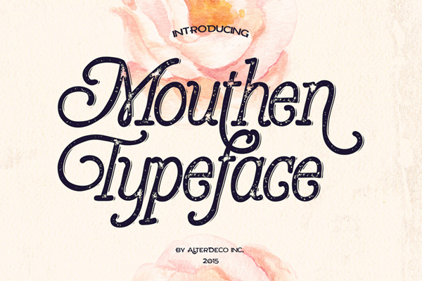 Mouthen typeface, is a rough handlettered style font