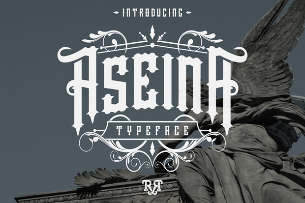 Aseina typeface is new font
