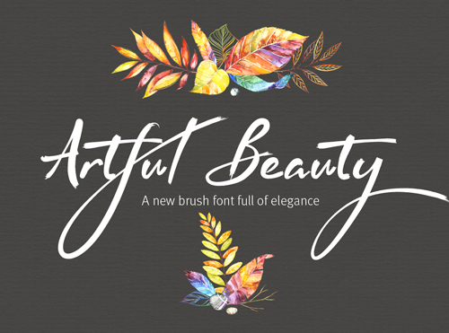 Artful Beauty is a smooth, crisp and clear brush font