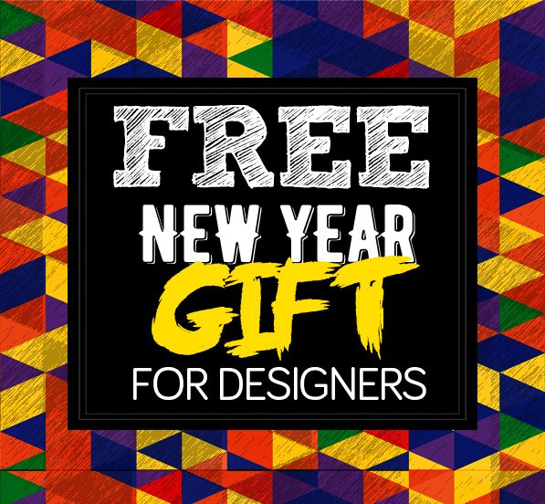 Free New Year 2016 Gift Pack For Designers