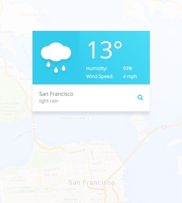 Free fully functional Weather App UI PSD Template