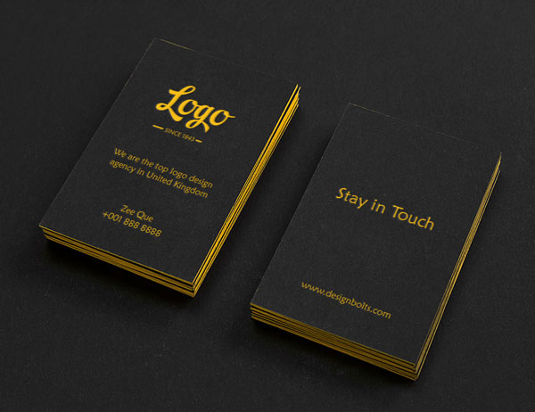 Free Black Textured Buisness Card Mockup Template