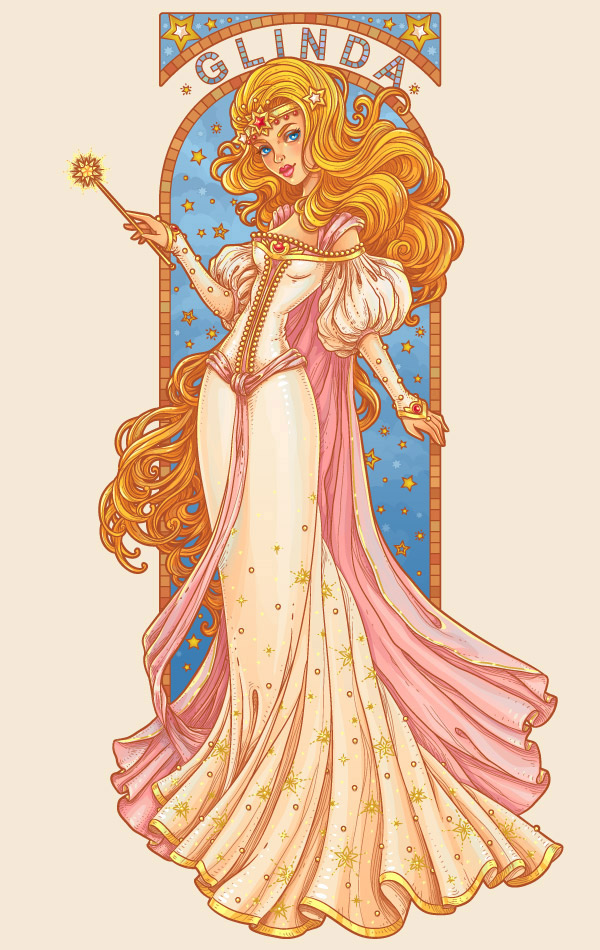 Create an Art Nouveau-Inspired Glinda Character in Adobe Illustrator