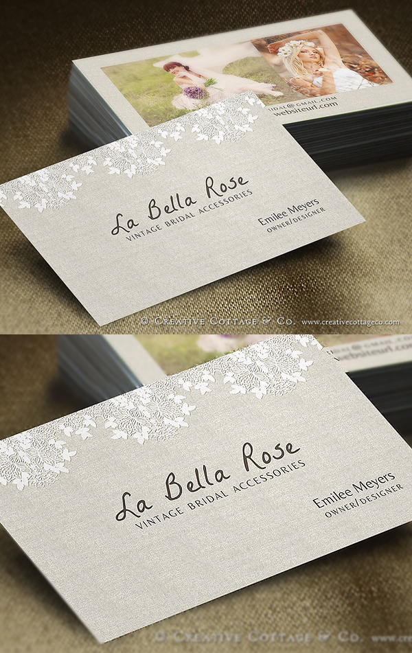 Pretty Linen Business Card Template