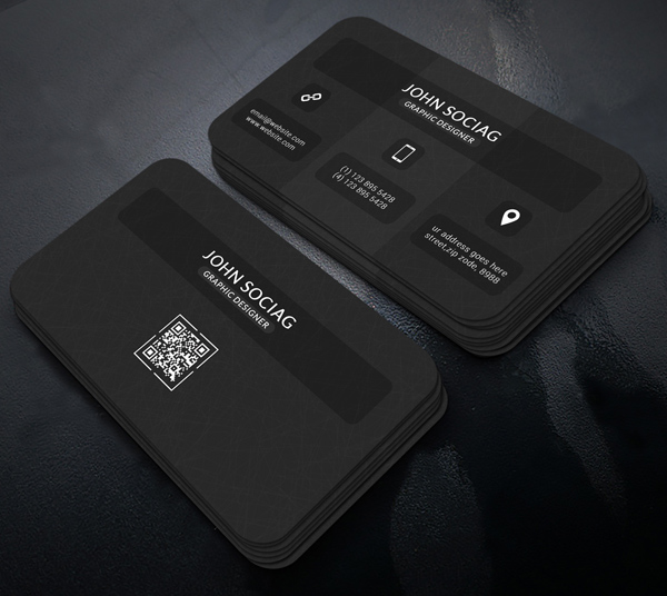 Dark Black Business Card