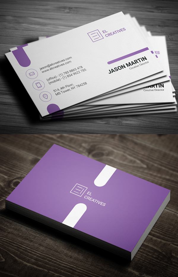 Purple Creative Business Card