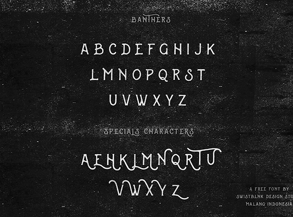 Banthers Font Letters