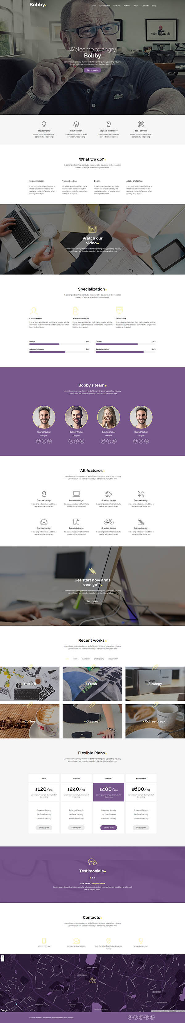 Bobby - Multipurpose Creative Service Landing Page