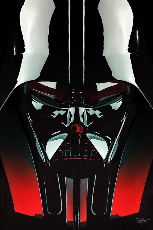 Darth Vader Illustration by Daniel Murray