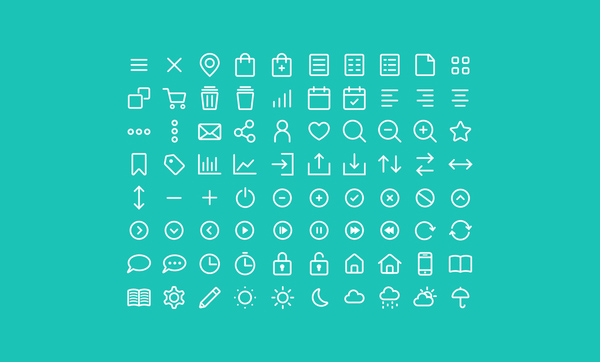 Free Vector Line Icon Set (80 Icons)