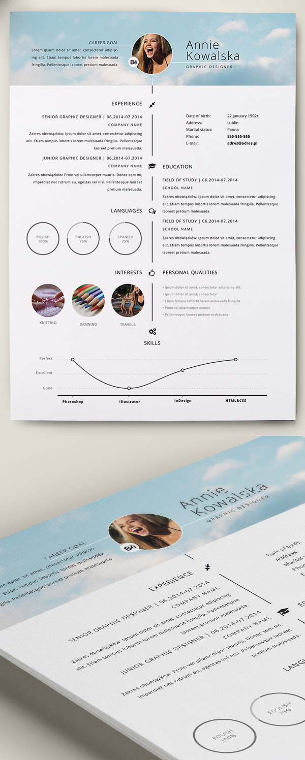 Free Template For A Resume Resume Template Designs Creatives Mac