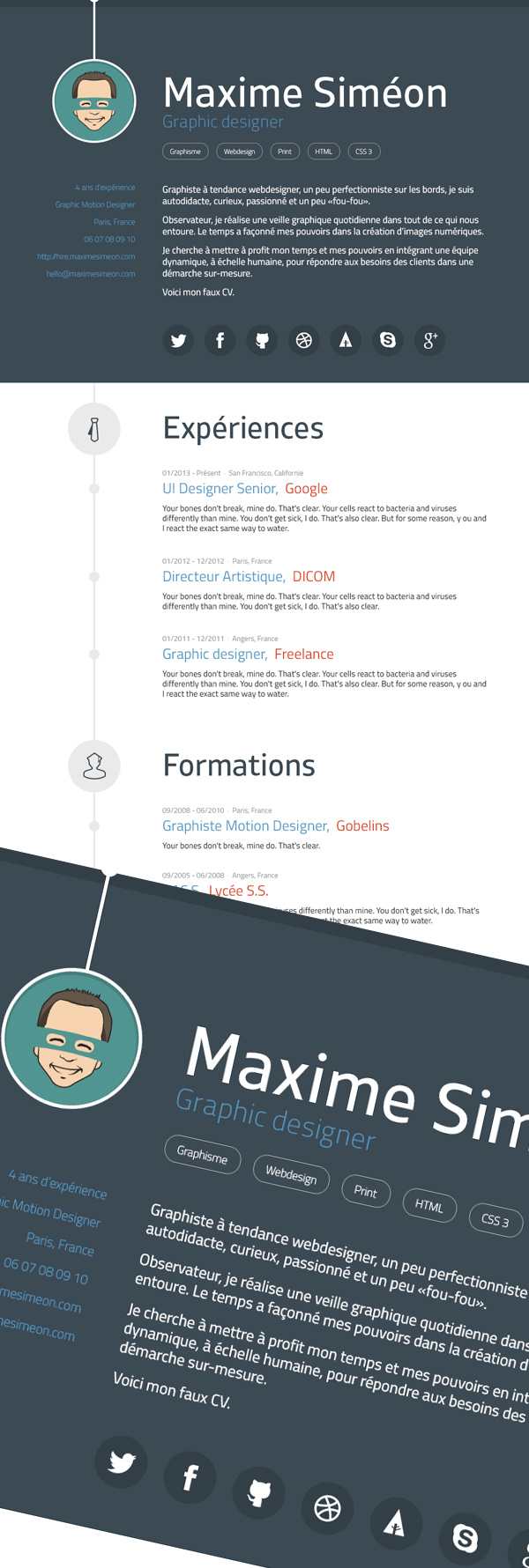 Free Modern Graphic Design Resume Template