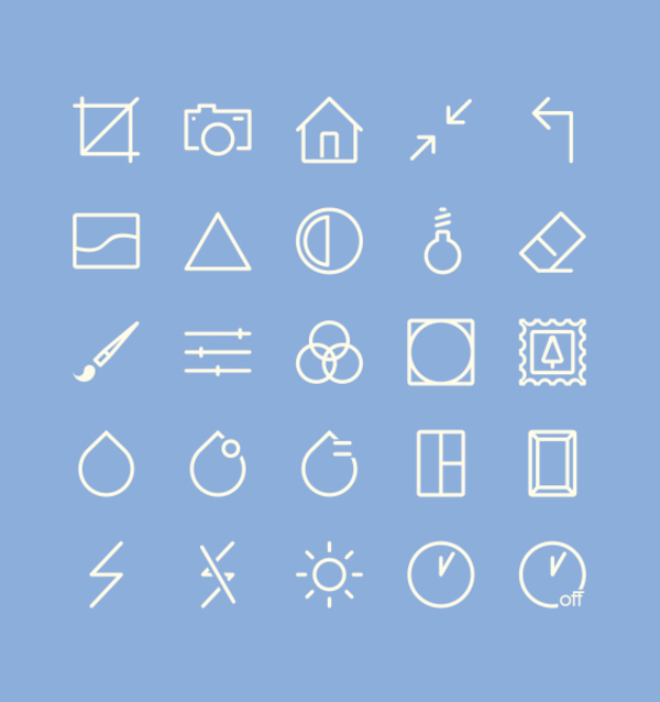 Image Editing Icons (25 Icons)